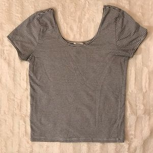 {Forever 21} striped stretch scoop neck tee shirt